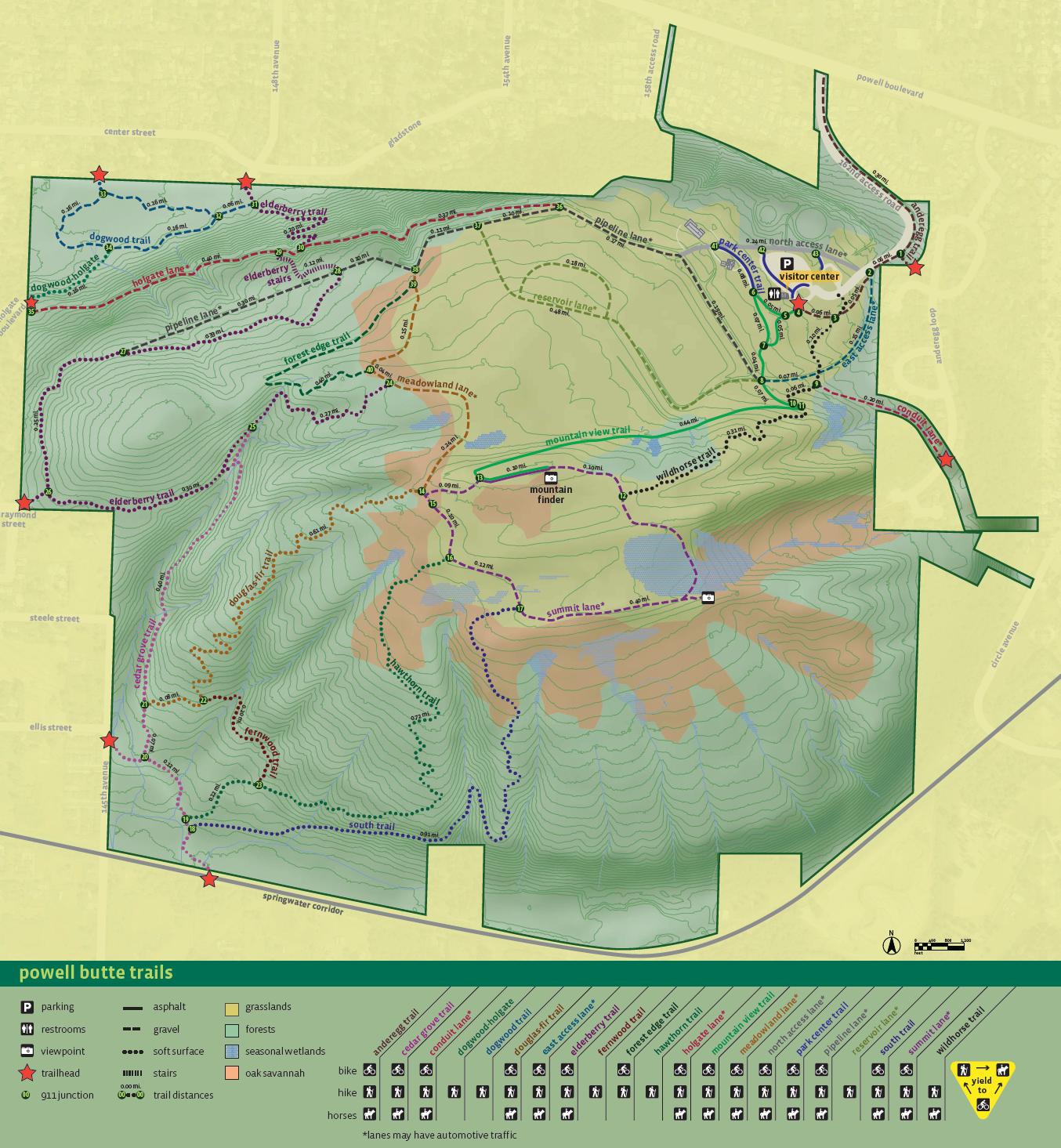 Map Powell Butte Nature Park
